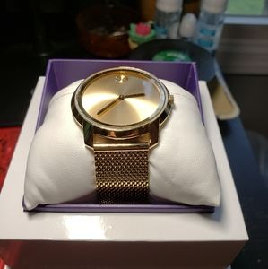 Movado Bold Gold Mesh Watch